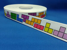 1 metre length of Tetris design Cake/Hair/craft ribbon @ MrsMario's