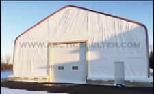 80x40x24 Storage Shelter Arctic Shelter Building Carport Double Truss Pvc Fabric