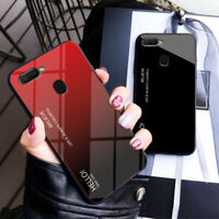 Luxury Gradient Tempered Glass Case Cover For OPPO F9 F7 F5 F3 R15 K1 A7X A83