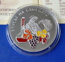 BULGARIA 5 leva 2006, Wine Production, Color Hand painted coin, COA, MINT