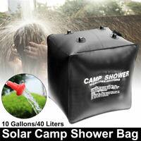20/40L Portable Solar Shower Bag Heating Travel Camping Water Carrier Foldable