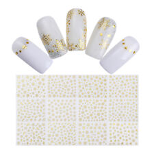 Gold Snowflakes 3D Nail Sticker 12 Patterns Nail Art Adhesive Transfer Stickers