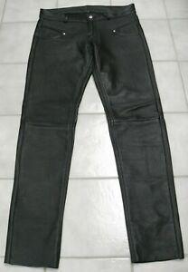 Bockle Lederhose STRETCH Lammleder skinny Lederjeans Gay Leder W33 gay-tragen