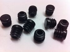 "100 Black Plastic Blanking End Cap Caps Round Tube Pipe Insert 12.7mm / 1/2"""