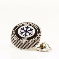 "KHL Sibir Novosibirsk ""Puck"" pin, badge, lapel, hockey"