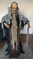 Halloween Standing ' Realistic' Animated Lunging Witch Prop Haunted Hallows BNIB