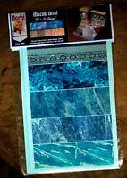 Uschi van der Rosten 1019 Decals Marble Blue & Beige Marmor