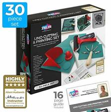 Lino Cutting & Printing Starter Kit (30-pieces) – by Zieler® - Ideal for