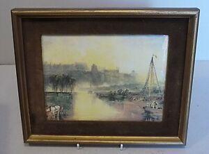 Coalport Porcelain Plaque - Windsor Castle - J.M.W.Turner