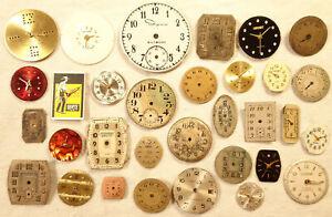 Vintage Wrist Watch Faces Lot Steampunk Art Crafts Jewelry