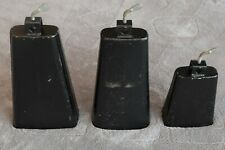 Set of Three Latin Percussion Cowbells, free shipping