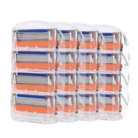 20pcs 5-layer Men's Razor Blade Refills for Fusion Orange Cartridges 4Pcs/Pack