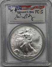 2001 American Silver Eagle $1 MS 69 PCGS Edmund C. Moy Signature