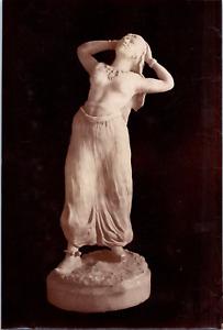 Musée, statue, La Bitta, danse arabe, terre cuite de Mr Audemard Vintage albumen