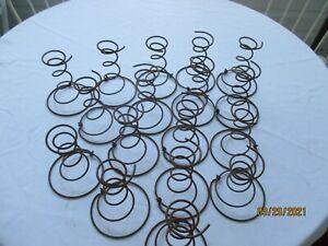 "Lot of 17 Old Vintage Rusty Heavy Bed Springs Tornado Shape 6"" Farm Art Crafts"