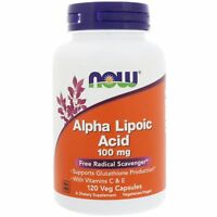 Now Foods Alpha Lipoic Acid 100mg 120 Veg Capsules