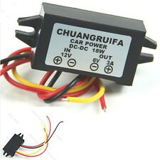 Waterproof Efficient 12V Step Down To 6V 18W Max 3A Power DC/DC Converter