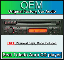 Seat Toledo CD player, Seat Aura car stereo radio, supplied with radio code