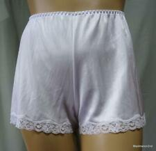 VINTAGE SILKY SOFT WHITE NYLON FRENCH KNICKERS PANTIES Lg OS NEW