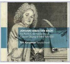 Ton Koopman, J.S. Ba - Six Partitas for Harpsichord BWV 825-830 [New CD] 2 Pack