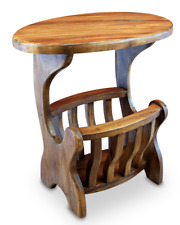 Wood Side Table Solid Wood Table Telephone With Magazines Storage Sofa Table