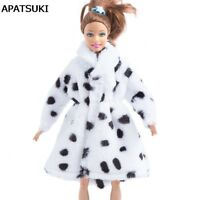 """Milk Cow Fashion Doll Clothes Coat For 11.5"""" Doll Winter Clothing Doll's Dress"""
