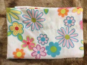 Vintage Baby Girl Crib flat sheet 45x60 Floral Daisy