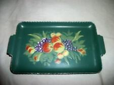 Retro HP Tole Tip Tray Embossed Fruit Rare Chic Shabby Cottage Vintage