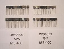 TESTED! 40 Transistors: 20 MPS6521 + 20 MPS6523 Complimentary Pairs *20 of each*