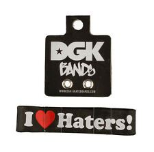 DGK Dirty Ghetto Kids Black I Love Haters Silicone Rubber Bracelet Wristband NEW