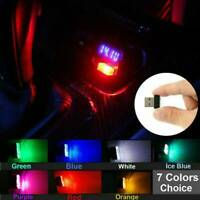 3X Mini USB LED Car Auto Interior Decors Light Neon Atmosphere Ambient Lamp