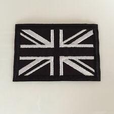 Embroidered Black UK National Flag Iron On Sew On Patch Badge Flag Union Jack