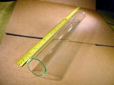 Glasrohr Ø aussen 45 mm , Ø innen 37 mm  ca 34 cm lang , beide Enden beschmolzen