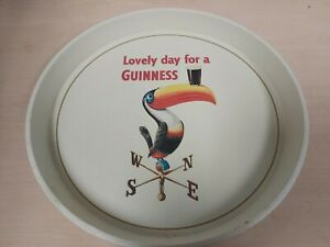 Vintage Metal Guinness Bar Serving Tray Toucan Home Bar Collectable  S1