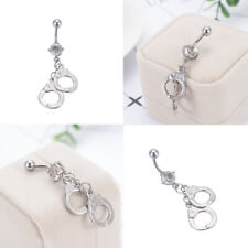 Belly Button Rings Crystal Rhinestone Navel Bar Ring Body Piercing Jewelry