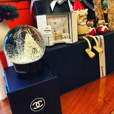 CHANEL Snow Globe Dome Christmas Tree Gift Limited VIP Customer Benefits Black
