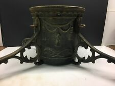 Vintage Cast Iron Ornate Christmas Tree Trunk Stand Heavy And Solid Decorative