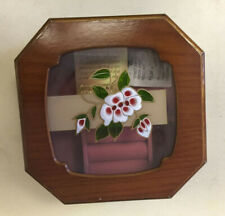 Jewelry Case By Mele Vintage Floral Tiffany Glass Lid Wooden Box