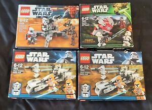 Lego Star Wars battle pack Bundle 100% complete sets x 4