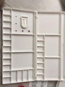 2Watercolour Empty Case Plastic Paint Pans Palette + Extra Art Stuff, Dies, Stam