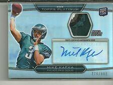 2010 Platinum Football Mike Kafka Auto Patch Rookie Card # 779/800 5 Colors!