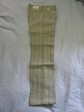 Mens 70's Vintage Farah Gun Check Slak-Back 27W 27L Dress Pants Chinos Slacks!
