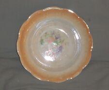 Very Nice Vintage Orange Rose Pattern Owen China Ransom Serving Bowl