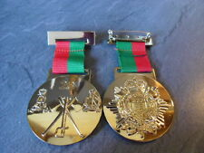 Gold plate Pioneer Medal on Red and Green Ribbon, Double sided, 23, 160, RPC,RLC