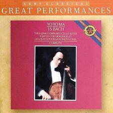 YO-YO MA - Bach: 6 Unaccompanied Cello Suites - 2 CD - Import - *Mint Condition*