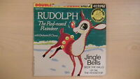 RUDOLPH RED-NOSED REINDEER Wonderland Record 45rpm 1966