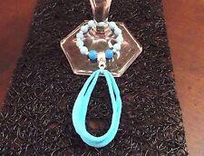Décoration perles bleues Pour Verre Table De Fêtes & Fait Main * Cadeau Original