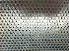 GALVANIZED STEEL PERFORATED METAL SHEET MESH 380mm X 300mm - 4.76mm ROUND HOLES