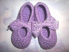 Lavender Hand Crochet Mary Jane Shoes For The My Size Barbie Doll