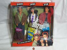 NEW (w/ Wear) Beverly Hills 90210 Brandon Brenda & Dylan Doll Giftset SEALED set
